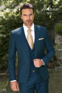 Costume Johann bleu vert accessoires Gold